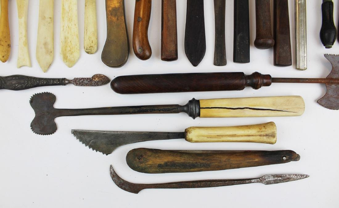 27 18th & 19th c surgical knives, razors & cutting - 4