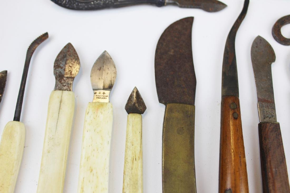 27 18th & 19th c surgical knives, razors & cutting - 5