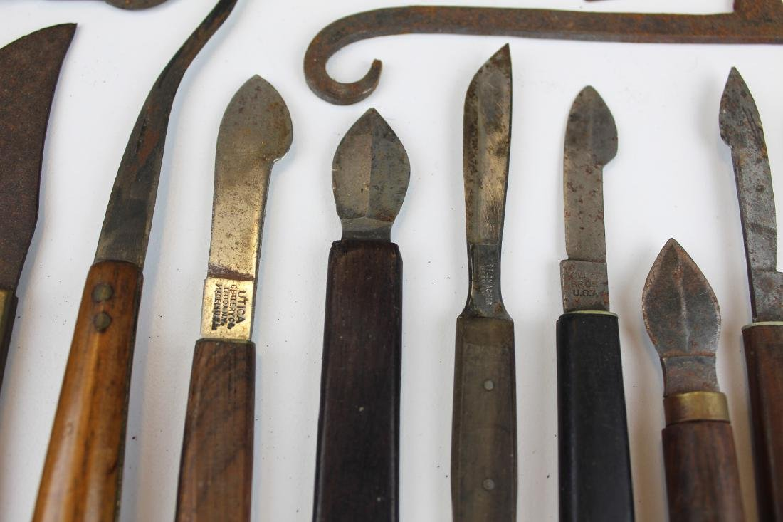 27 18th & 19th c surgical knives, razors & cutting - 6