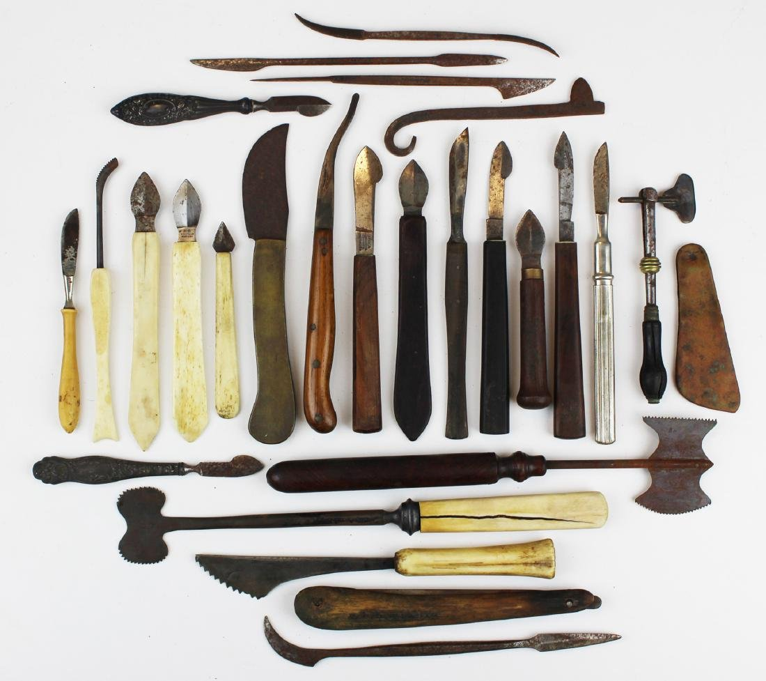 27 18th & 19th c surgical knives, razors & cutting - 7
