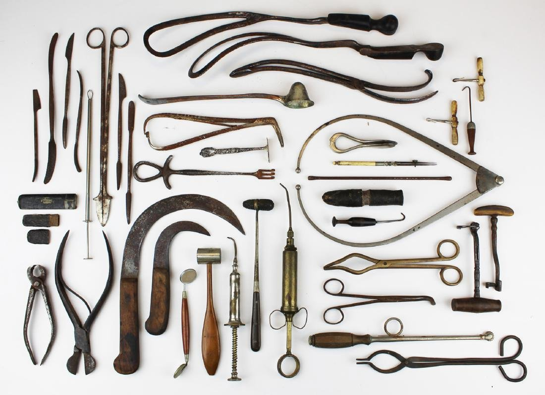 19th c & 20th c surgical & doctor implements.