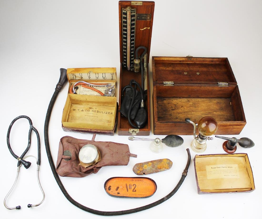 A group of 19th c and early 20th c medical devices