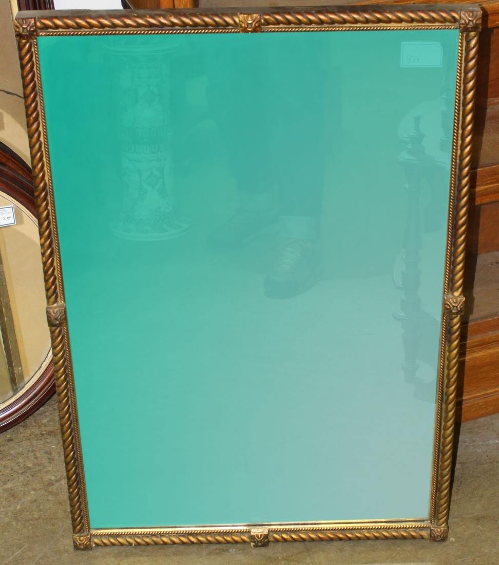 mid 20th c gilt wall mirror