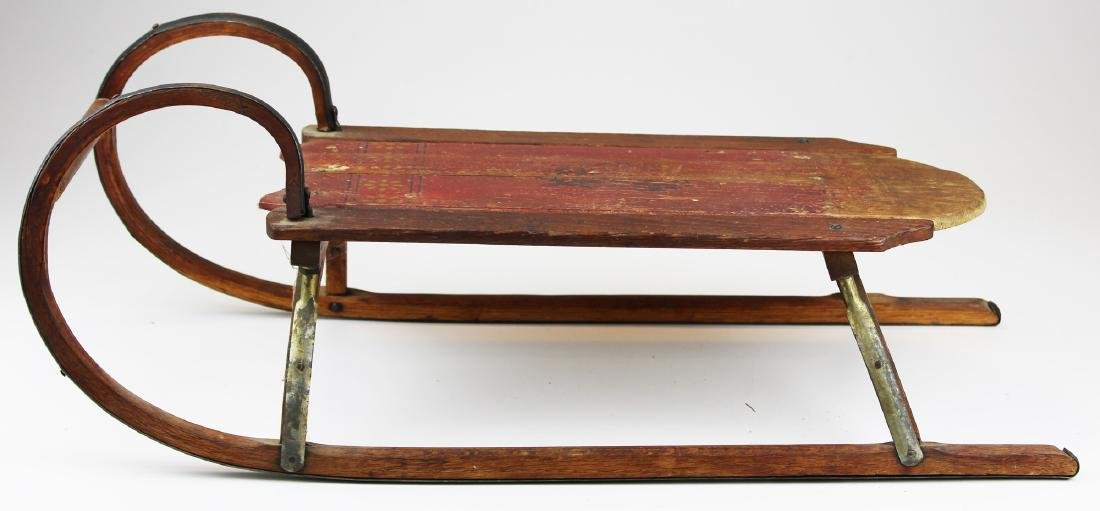 early 20th c Paris, Maine child's sled