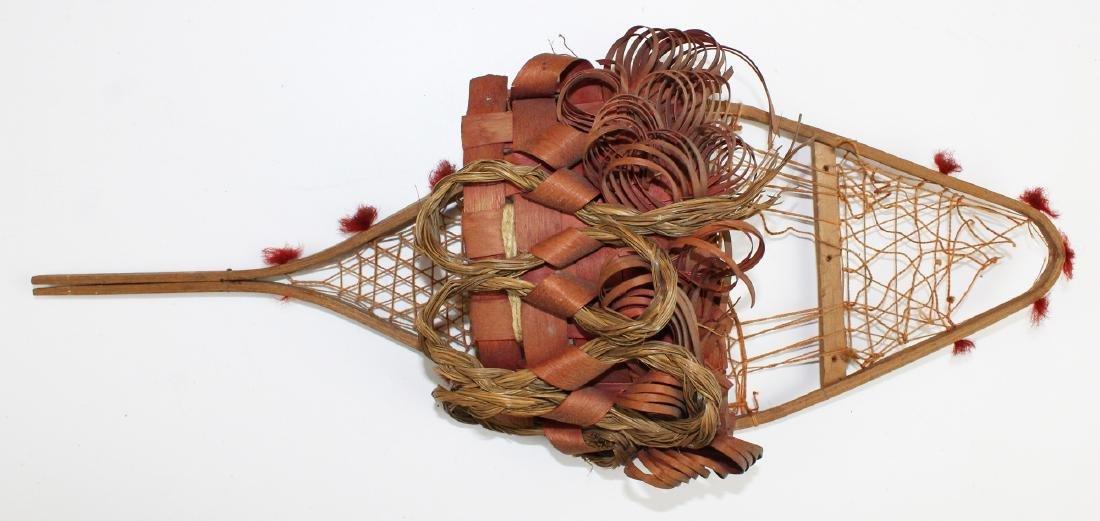 three early 20th c NE Woodlands baskets - 2