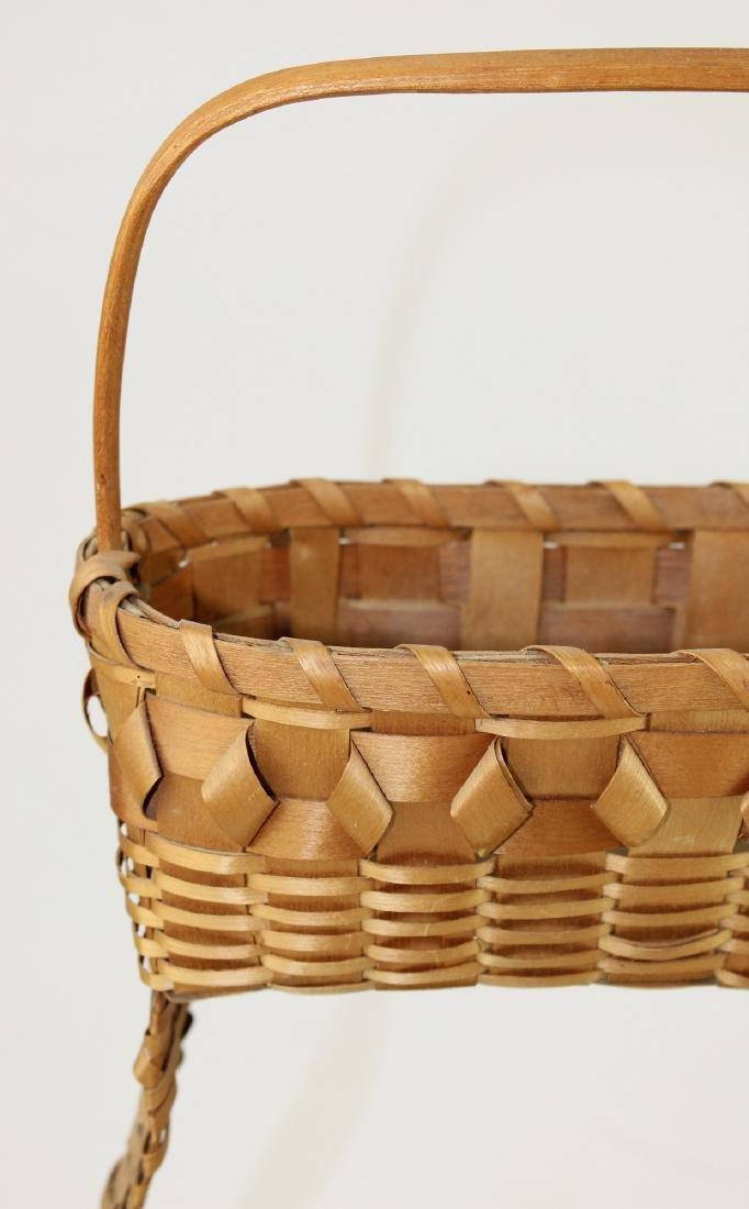 three early 20th c NE Woodlands baskets - 3