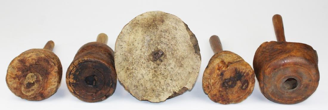 five late 18th- early 19th c burl mauls - 6