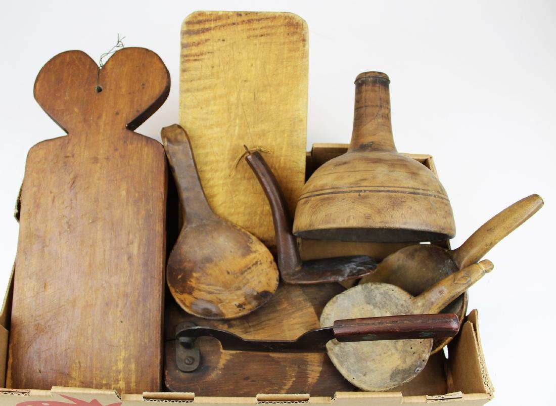 19th c wooden kitchenware