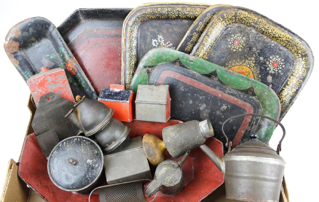 19th c tin kitchenware