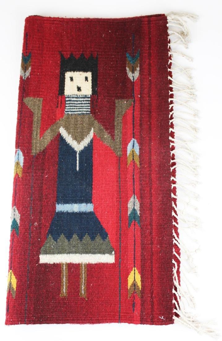 mid 20th c Navajo Yei figure blanket - 2