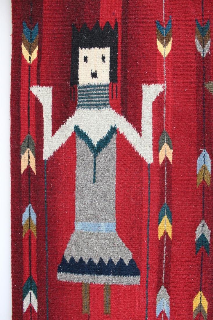 mid 20th c Navajo Yei figure blanket - 3