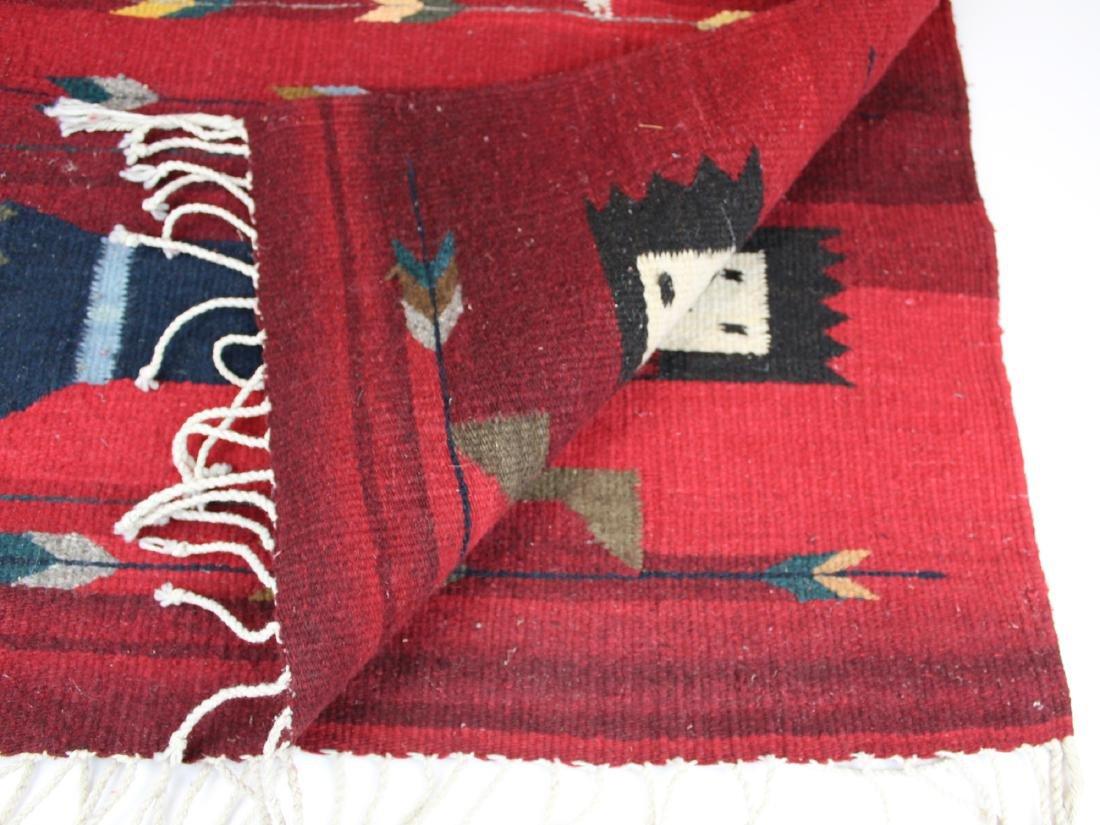 mid 20th c Navajo Yei figure blanket - 5