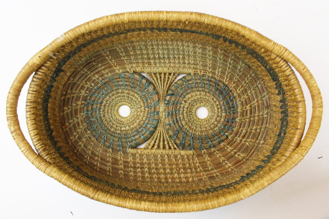 20th c Native American pine needle baskets - 4