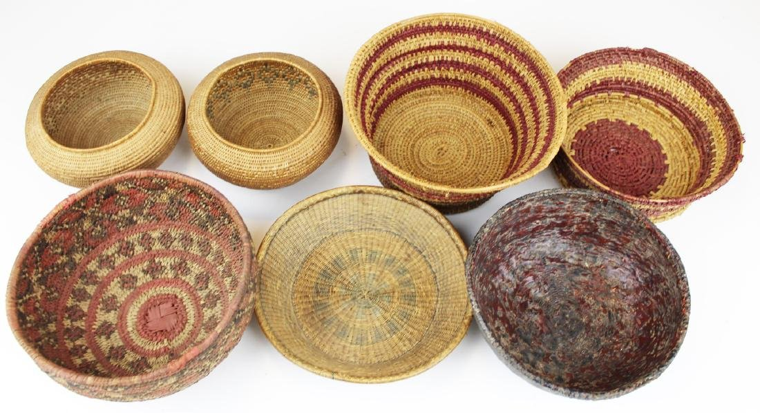 seven 20th c ethnographic baskets - 2