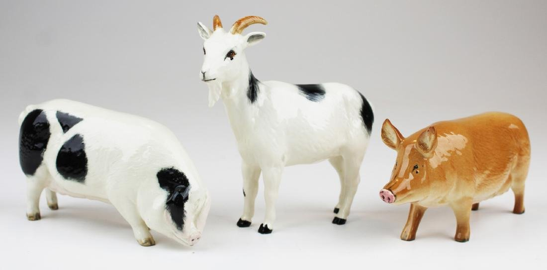 3 Royal Doulton porcelain animal figurines