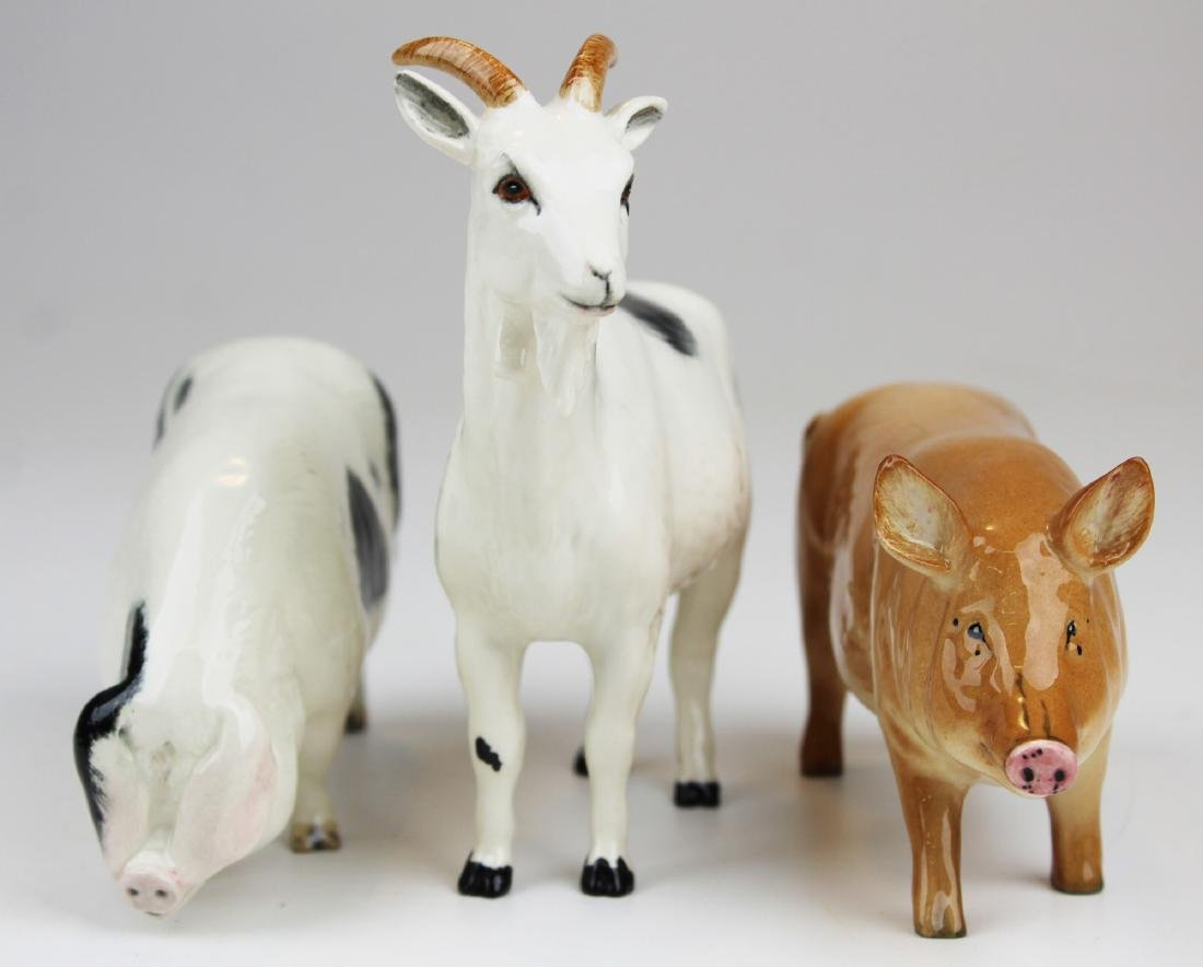 3 Royal Doulton porcelain animal figurines - 2