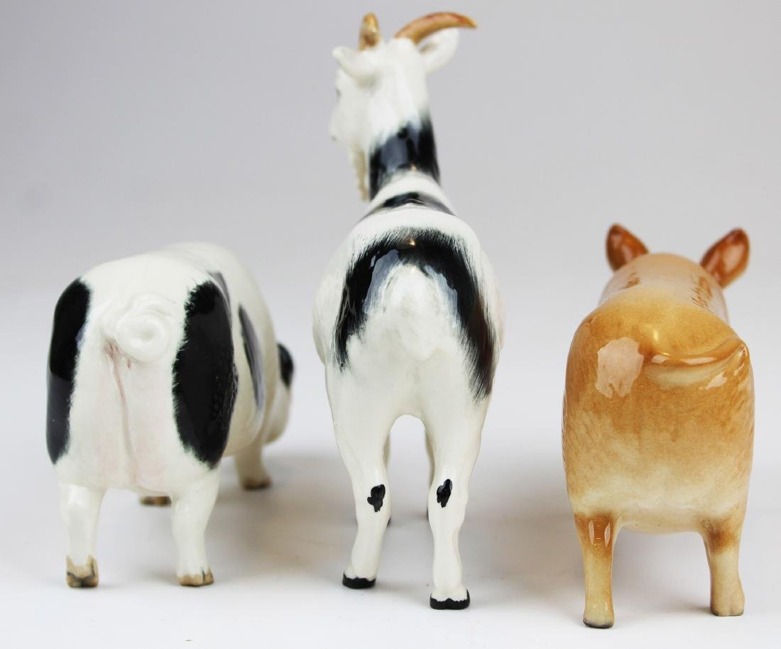 3 Royal Doulton porcelain animal figurines - 3