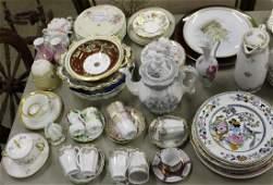 Large lot of European porcelain tableware