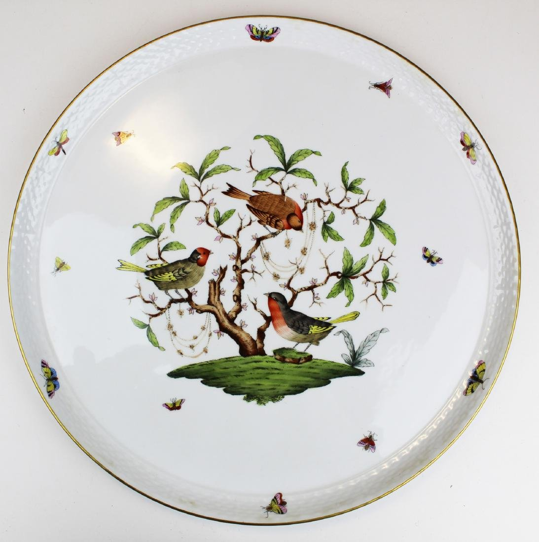 Herend Rothchild Bird round porcelain platter