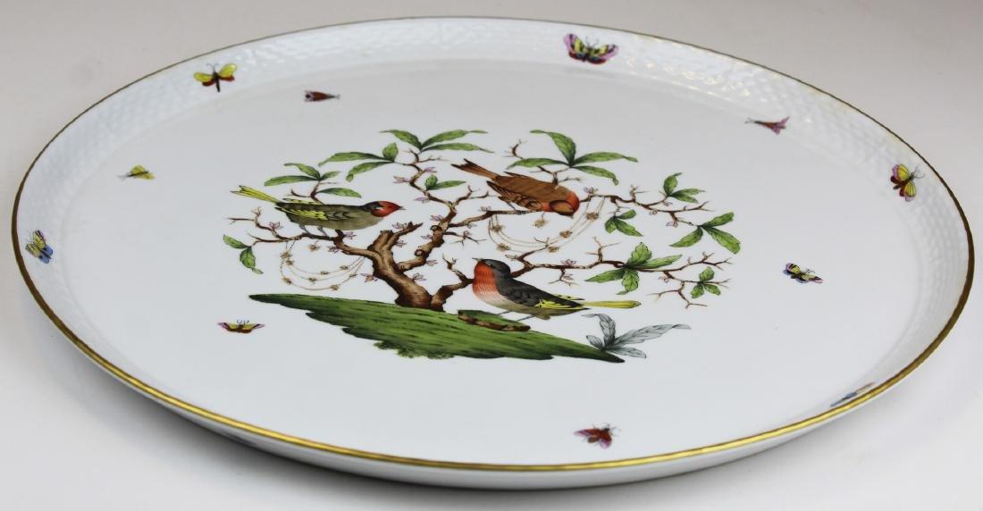 Herend Rothchild Bird round porcelain platter - 5