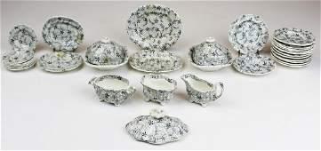 partial 19th c. Staffordshire child's tea set