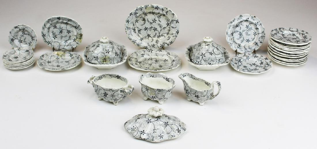 partial 19th c. Staffordshire child's tea set