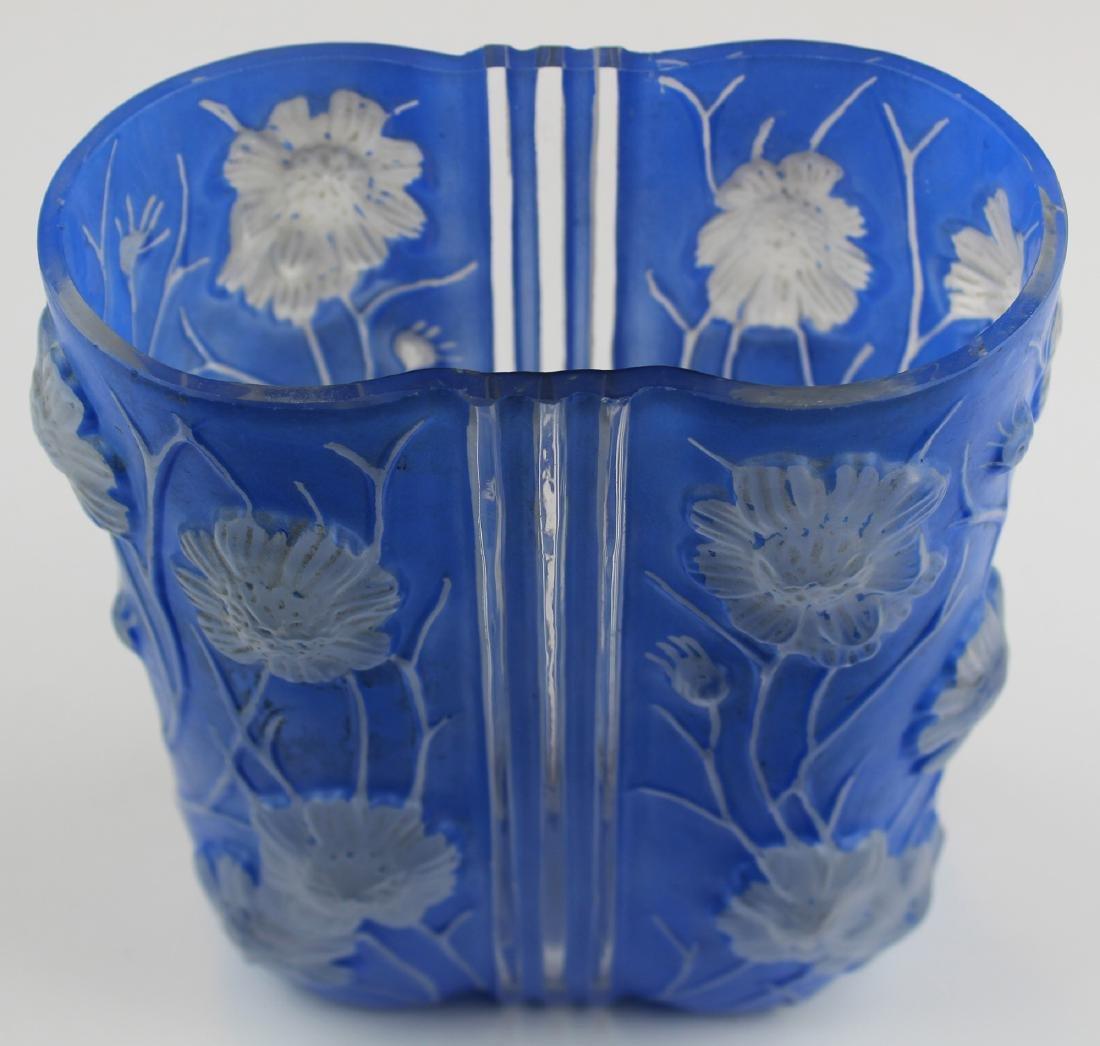 Phoenix Consolidated Blue Cosmos Art Deco Vase