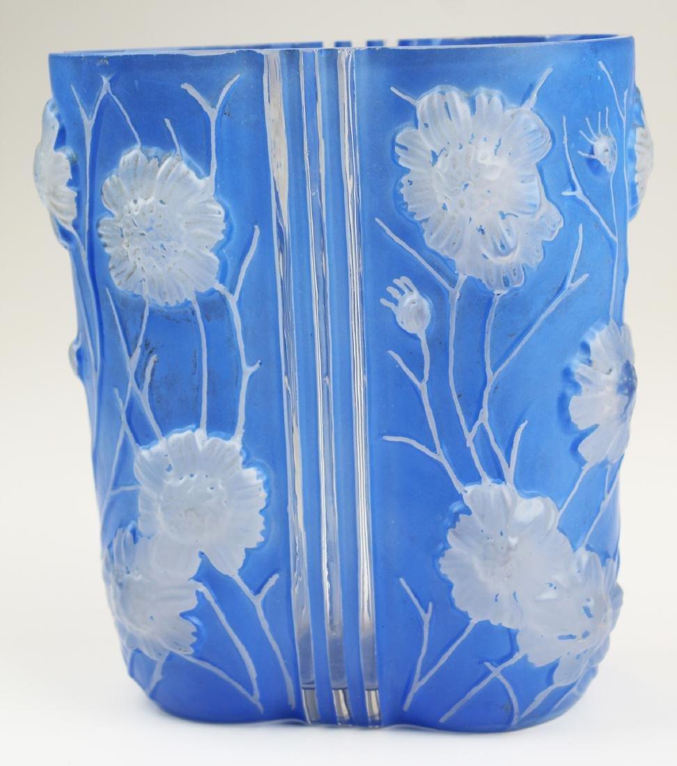 Phoenix Consolidated Blue Cosmos Art Deco Vase - 2