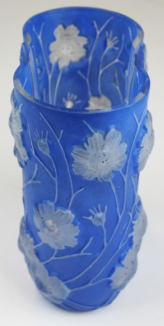 Phoenix Consolidated Blue Cosmos Art Deco Vase - 3