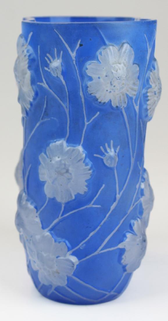 Phoenix Consolidated Blue Cosmos Art Deco Vase - 5