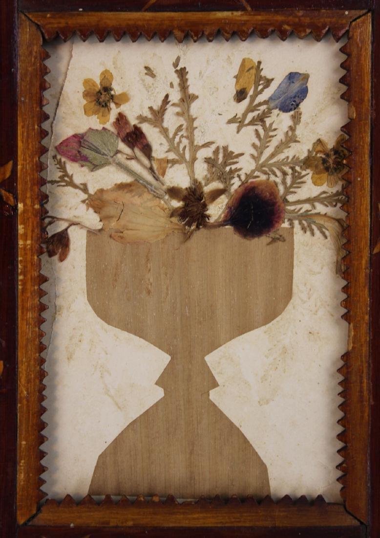 19th c folky frame w/ flowers of Jerusalem - 3
