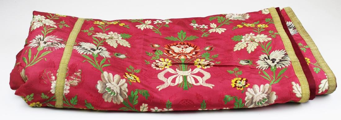 late 19th c embroidered spread or cover