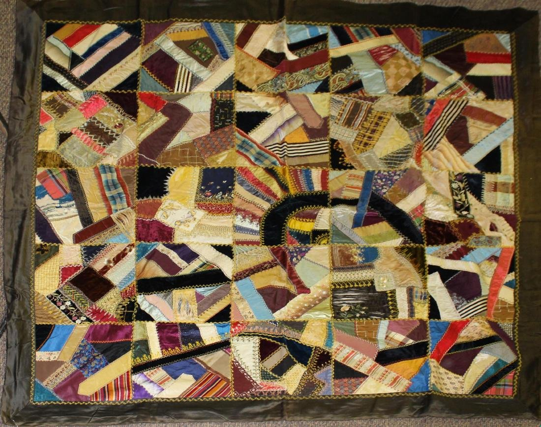 late 19th- early 20th c crazy quilt