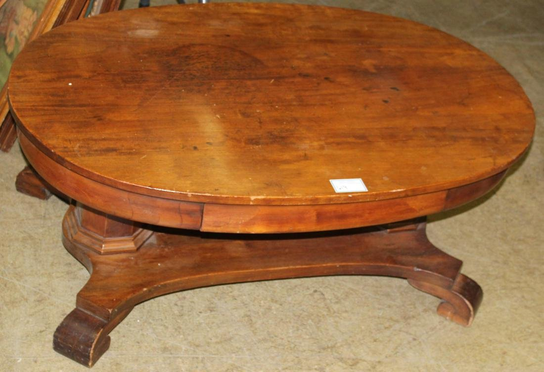 Mahogany classical revival coffee table