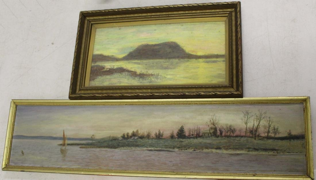 Two 19th c  lake scenes