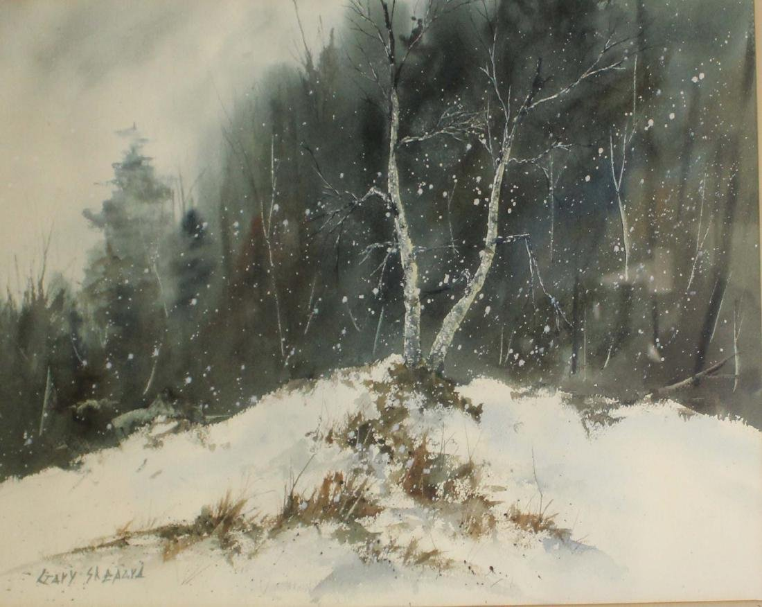 Gary Shepard (20th c) Winter scene