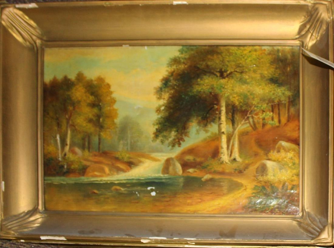 Emma Domina (20th c ) NH Landscape