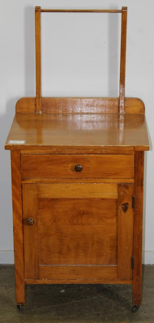 19th c pine commode