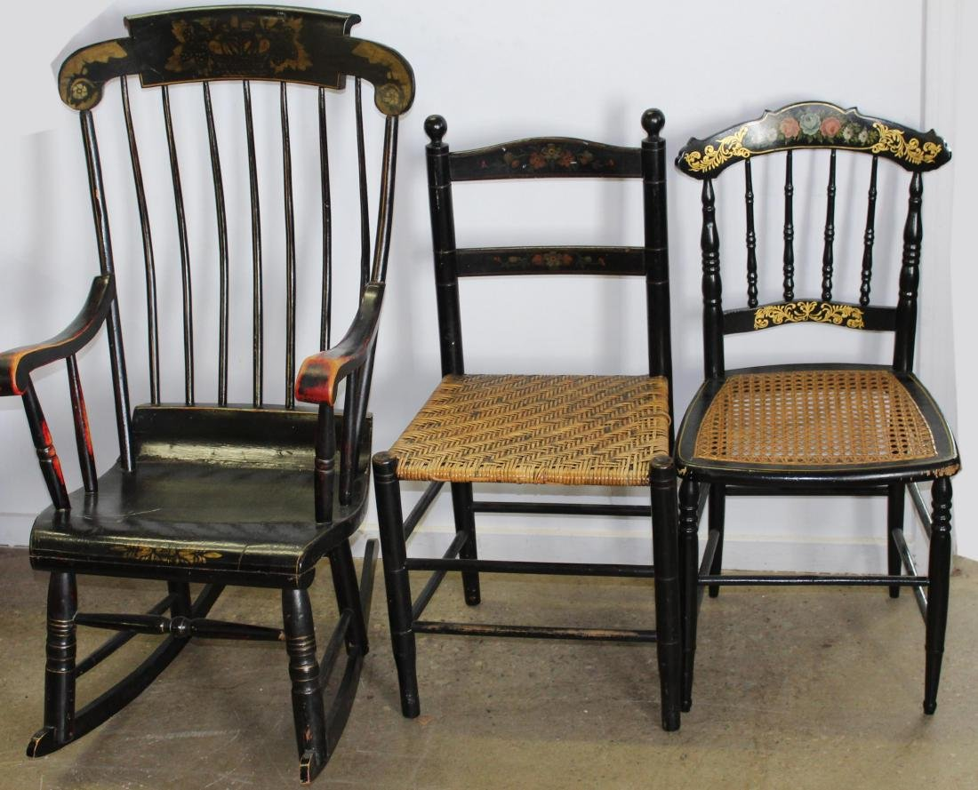 lot of 6 19th c chairs