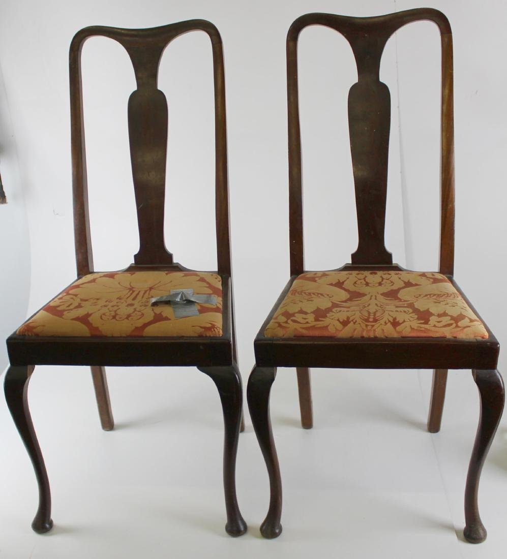 pair of 20th c Queen Anne Style chairs