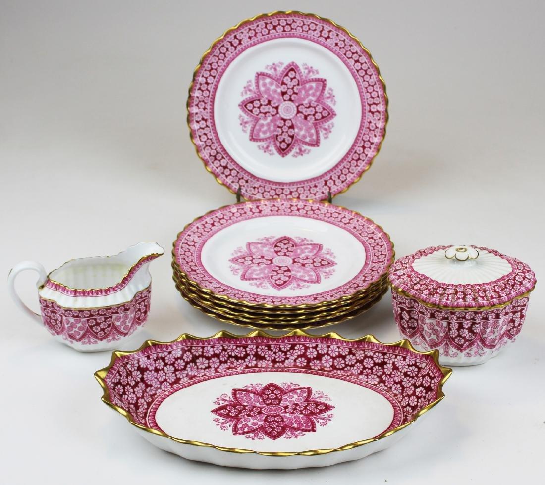 Spode Primrose bone china porcelain dessert set