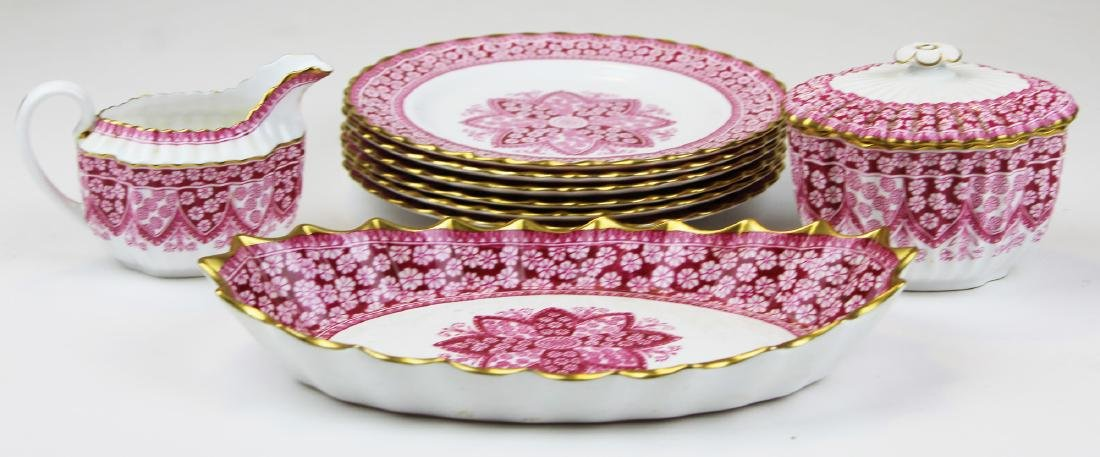 Spode Primrose bone china porcelain dessert set - 5