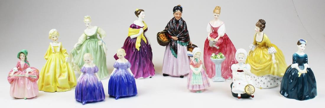 Collection of 11 Royal Doulton lady figurines