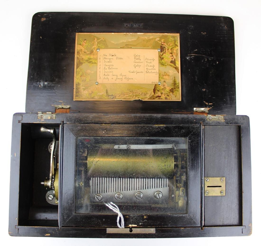 late 19th c Swiss music box (as found)