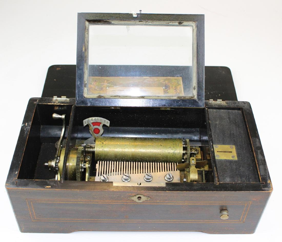late 19th c Swiss music box (as found) - 2