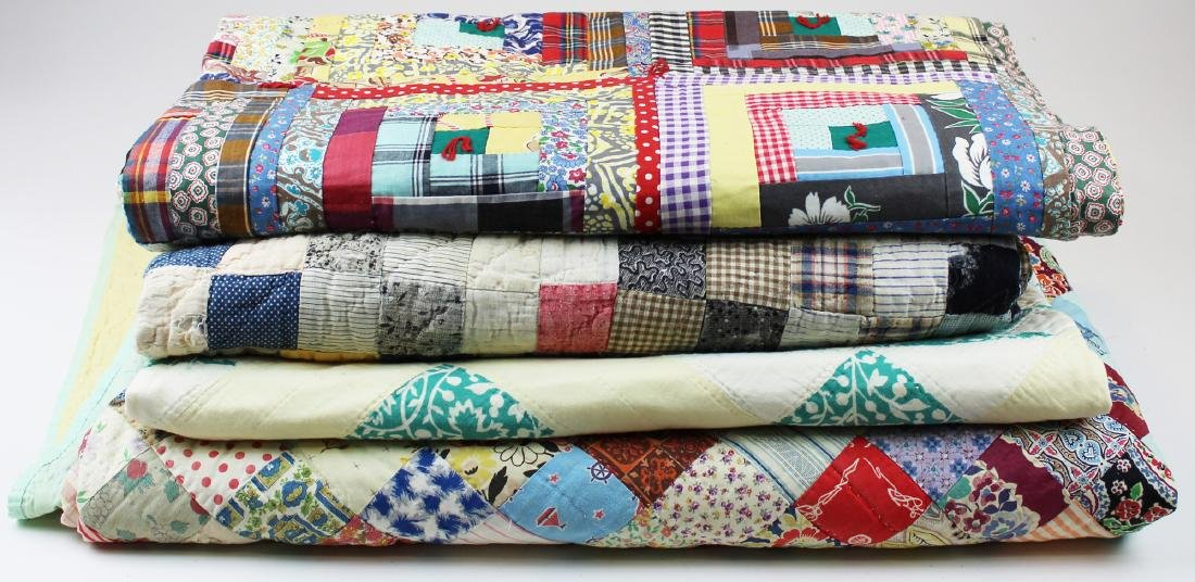 four 20th c quilts