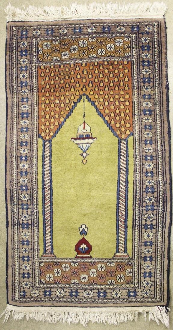 late 20th c Persian style prayer rug