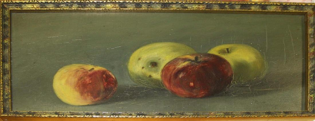 19th c American school o/b Apples