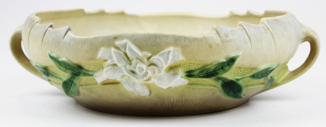 Roseville Gardenia art pottery console bowl