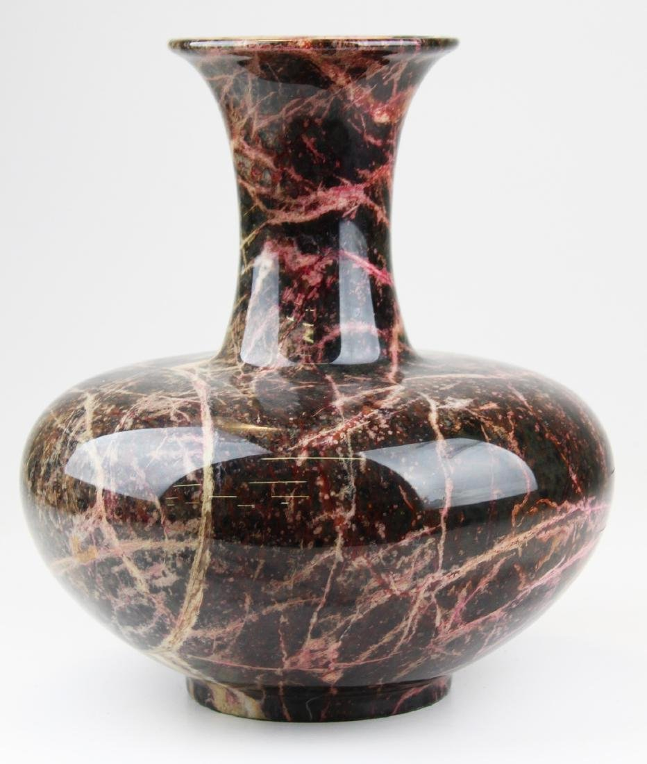 large contemporary turned marble vase